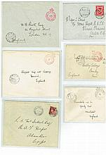 The British army - Egypt, 6 envelopes, the thirties, rare stamps