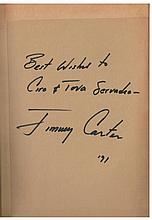 Jimmy Carter's book on the Middle East, signed by him