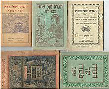 A collection of small-format Passover Haggadot