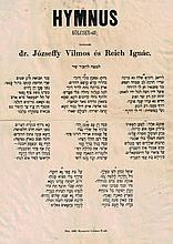 Hebrew-Hungarian anthem, Budapest, 1863, written by the pupils of the first Reformers: