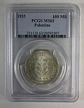 Three 100 Mil coins 1935-1942, SM63
