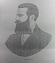 A micrograph poster of Herzl, according to the book