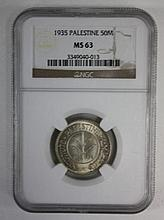 Two 50 Mil coins 1935-1942, SM63