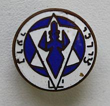 Lapel pin, 'HaNoar HaZioni' (the Zionist youth) youth organization