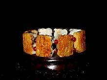 A Fine Qing He Tian Jade Bracelet