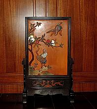 A Large Important Qing Precious Stones Inlaid Table Screen