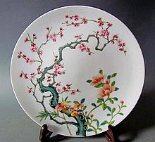 A Fine Qing Enamel Color Porcelain Plate