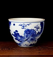 A Blue and White Luck Animal Porcelain Pot