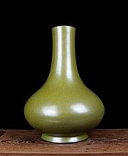 A Tea Dust Glaze Porcelain Bottle Vase