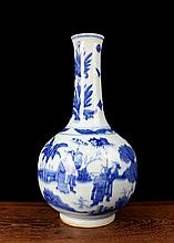 A Blue and White Figures Porcelain Vase