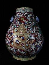 A Super Size Famille Rose Nine Dragons Porcelain Zun