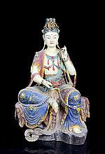 A Large Multi Mine Colors Nan Mood Seated Buddha