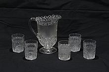 Six Piece Shell Pattern Water Set
