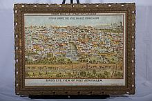 Print - Bird's Eye View of Holy Jerusalem