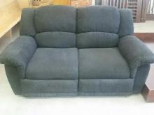 Black Upholstered dual reclining Loveseat