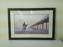 Surfer at the Ocean, Framed Photograph