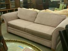 Large 2 Cushion Sofa in pale pink Tweed