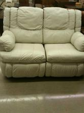 Leather Dual Recliner Love Seat -