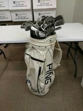 Ping golf bag and Selection of Irons