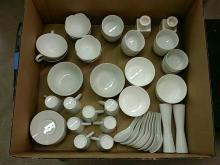 Good Collection of White Serving Dishes