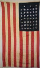 Large American 45 Star Printed Flag