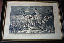 NATHANIEL CURRIER  Hand Painted Litho