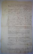 Document: 1807 Land document for the sale of property in Middlesex