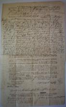 February 19, 1790 Land document, sale of property Samuel Hills, Chatham Sate of New York