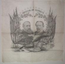 1892 Harrison & Reid Political Banner.