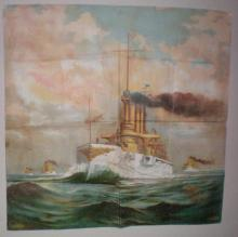 Great White Fleet Printed Textile