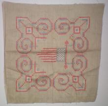 33 Star Flag Hand Embroidered Banner