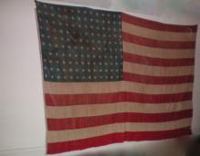 Rare Large 140 Star American Flag