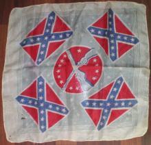 Vintage Silk Confederate Banner