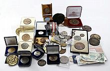 Collection of Coins, Medals, Banknotes, Pins and more