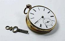 Pocket Watch. 14K Gold.