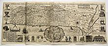 Map of the Holy Land. Tirinus. Mid-17th Century.