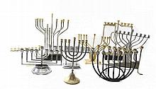 Collection of Modern-StyledChanuka Menorahs