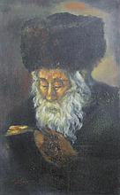 Painting of the Gerrer Rebbe. Oil on Canvas..