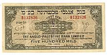 Banknote from the Anglo-Palestina Bank