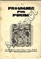 Programme for Purim. Jerusalem, [1931].