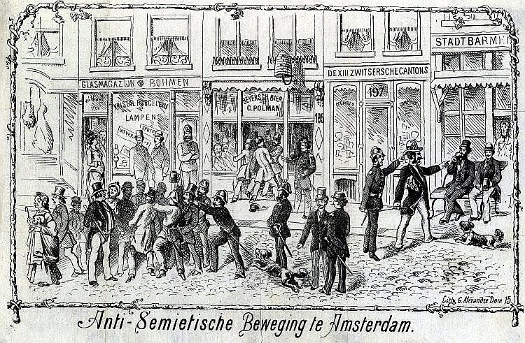 Anti-Semitic Poster. Amsterdam, mid-19th Century. Historic Poster. Museum Piece.