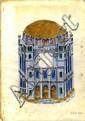 Churva Synagogue. Illustration and Blueprint. Tel Aviv (?), 1984.