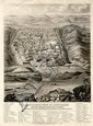 Panoramic Map of Jerusalem. Lithograph. Nathaniel Whittock. London, 1845.