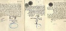 Signed Court Rulings from the Beth Din in Fass [3], Morocco. 5681-5714.