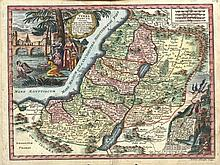 Collection of antique maps of Israel [15]. 17th-18th centuries.