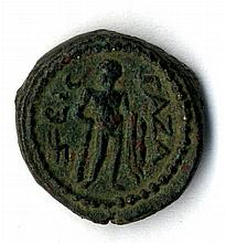 A bronze coin from Gaza, the Roman period.