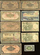 ollection of Mil and Lira Banknotes [10], 1948-1955.