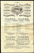 Poster. Advertisement for the Sale of Shmura Matza. Budapest, Hungary, 1902.