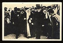 Postcard. HaRav Yosef Chaim Zonnenfeld and the President of Czechoslovakia. Prague, 1933.