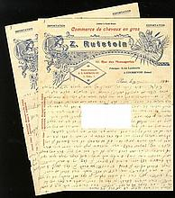 Important letter about the controversy concerning the heter mechirah. Rabbi Feivel Holzberg. [1910].